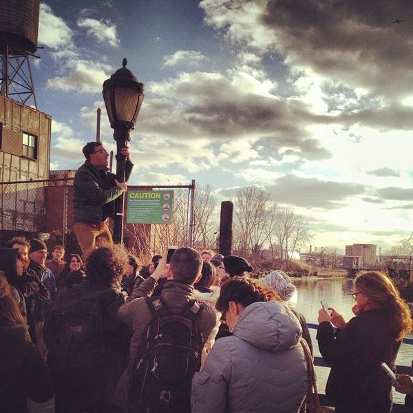 Joseph leading our TEDxGowanus Instameet. Photo Credit: @ktsandgentlemen