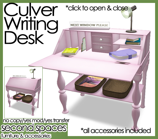 culver writing desk