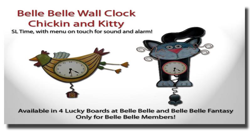 belle clocks