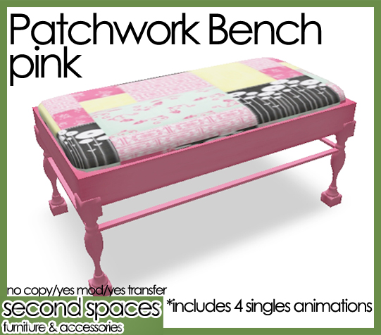 patchwork bench pink