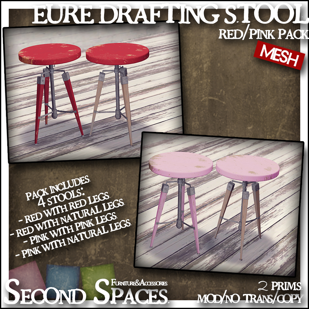 eure drafting stool_red pink pack_promo