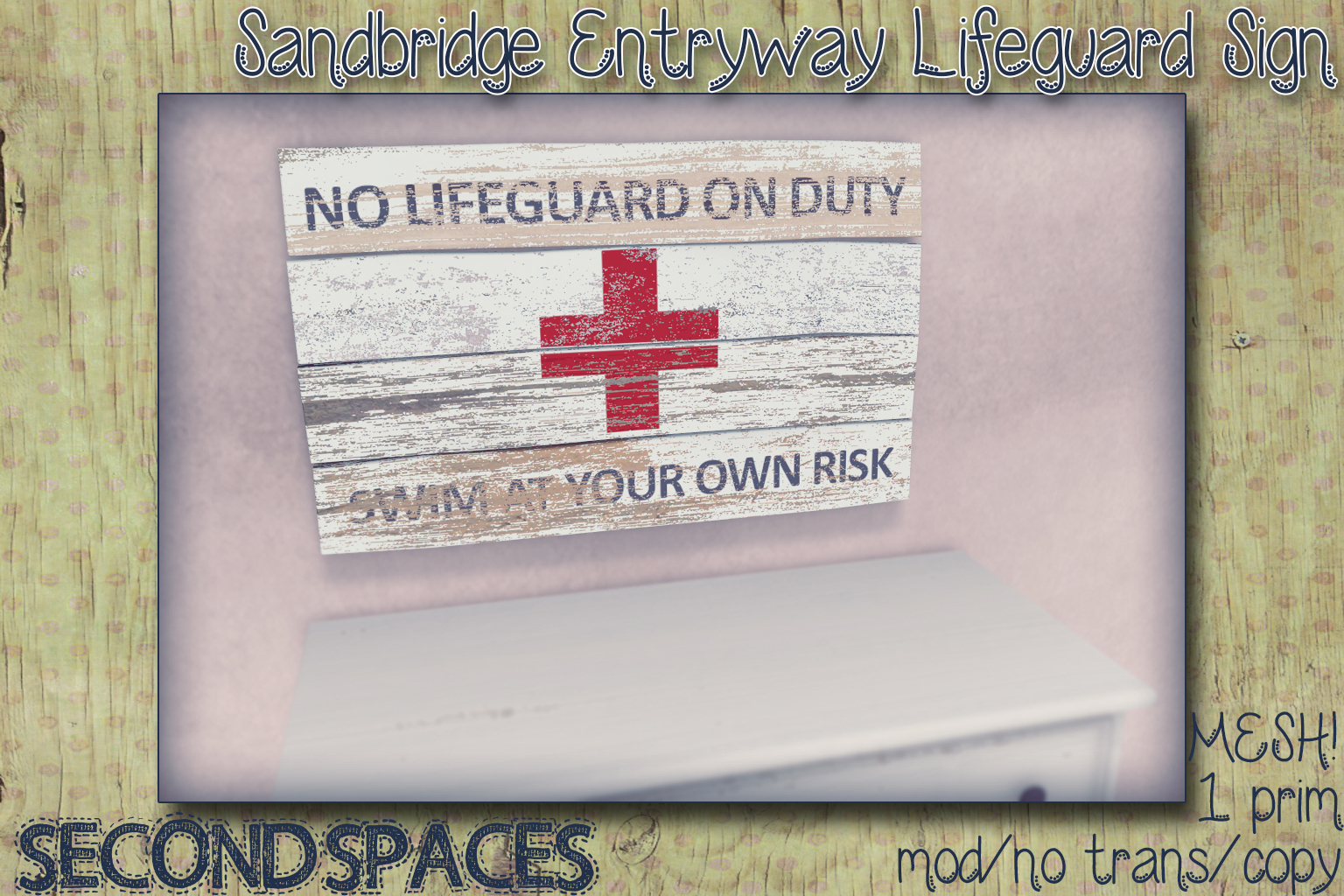 sandbridge lifeguard sign_vendor