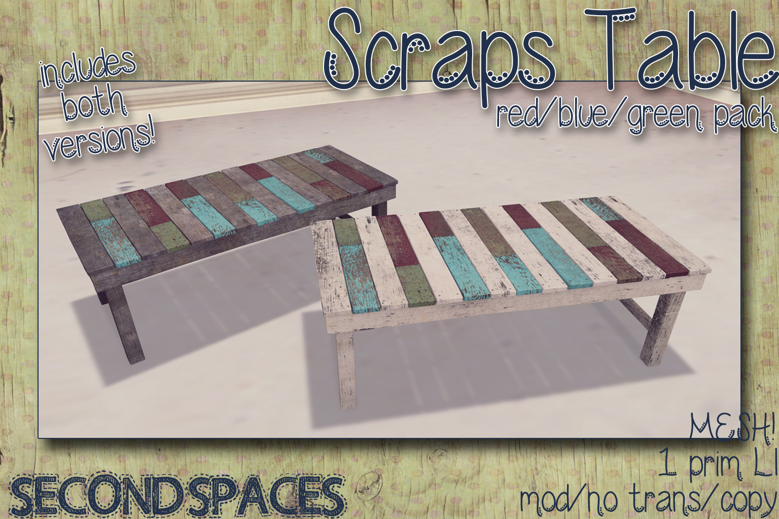 scraps table_red green blue_vendor