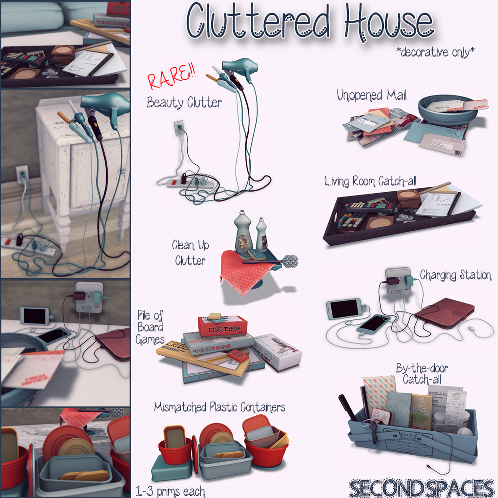 cluttered house second spaces