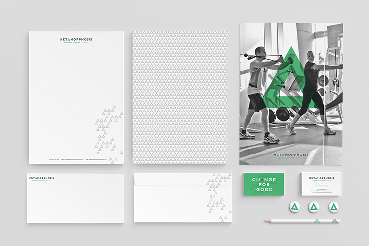 Metamorphosis - Letterhead, Envelope, Business Card & Presentation Folder