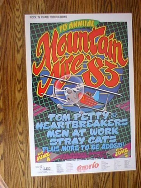 Promotion for Mountain Aire concert 1983