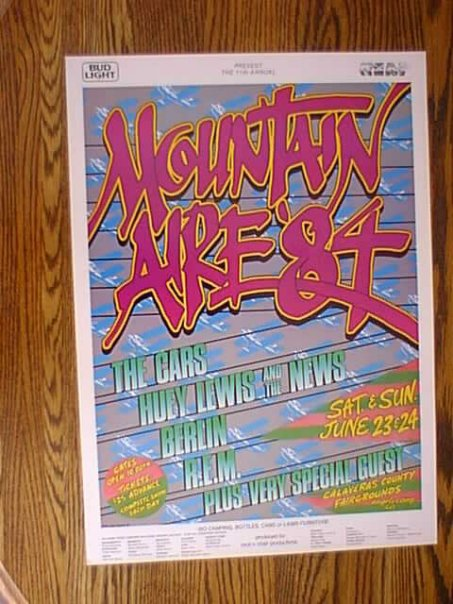 Promotion for Mountain Aire 1984. Co-designed by Robin