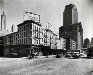 West Street between Warren & Murray Streets, Manhattan.(April 08, 1936).Now Whole Foods, Soul Cycle & Bed Bath Beyond.