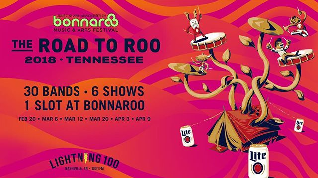Y'all! We are so pumped to be part of @lightning100's #RoadToRoo contest! The winner gets to play Bonnaroo this summer 😱 and we need your help to make it happen! Come out to @thebasementeast this Monday and vote for us at the showcase! Your vote is 50 percent of our score so get out there and we'll give you a big ole musical kiss to thank you 🙏🏼