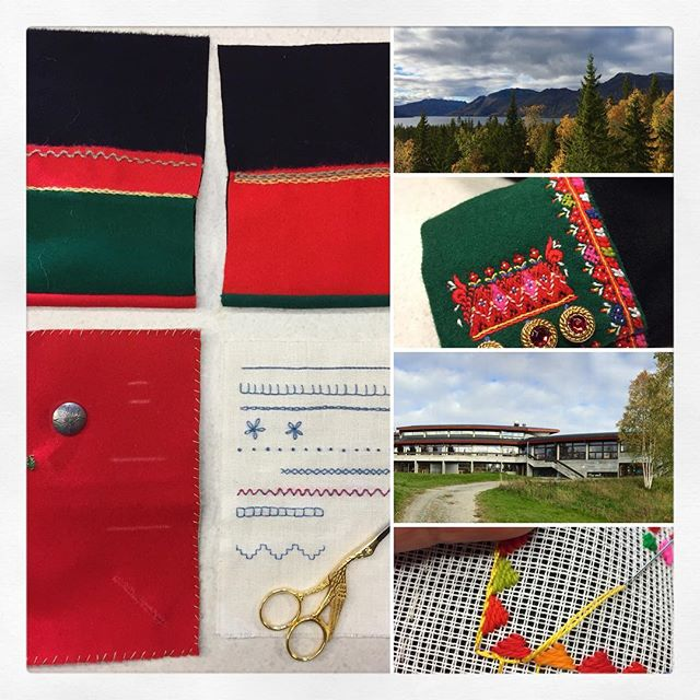 I'm spending this week at Raulandsakademiet in rural Telemark, taking a course in hand-sewing & embroidery techniques used in making traditional Norwegian folk costumes (bunad). If you're interested in more pictures, follow my other account (mostly my sewing, knitting & embroidery projects) over at @thefourthtosew ☺️