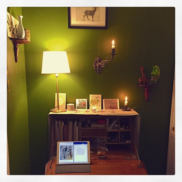It's NaNoWriMo time again...here we go! 💛  #nanowrimo #nanowrimo2018 #noveling #writingspace #writingdesk