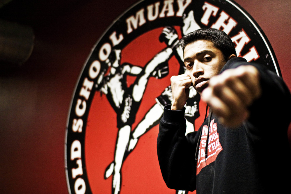 Zayan Rafeek - A Muslim Muay Thai Practitioner from Regent Park, Toronto. (Sid Naidu Photography 2013)
