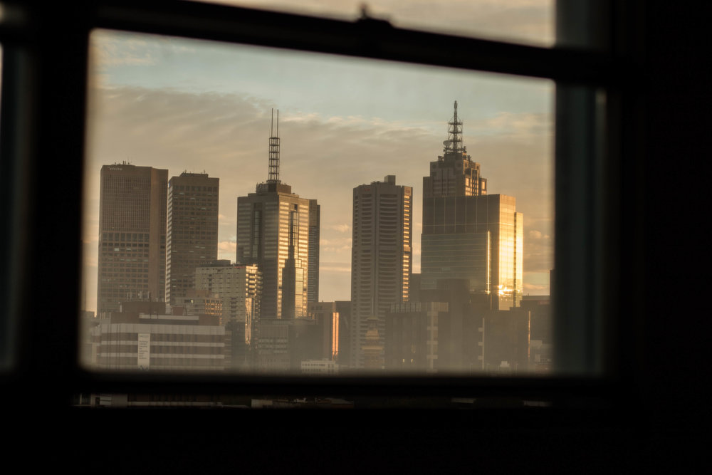 Looking out at Melbourne from the Fitzroy Flats in Australia. (c) Sid Naidu