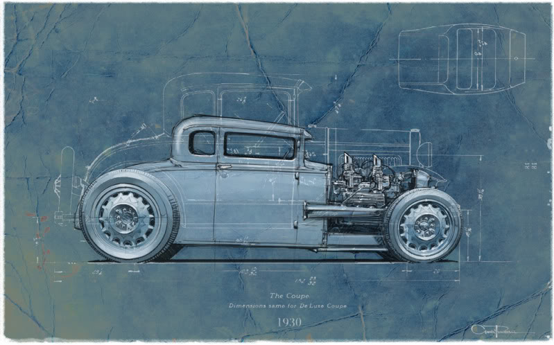 The blueprint series 1930 ford coupe 1930 ford sedan becker et thebluprintg malvernweather Gallery