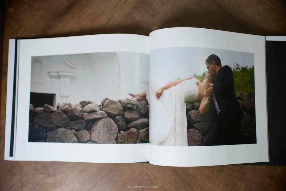 Una imagen a doble página de los  Fotolibros  de Bodas.