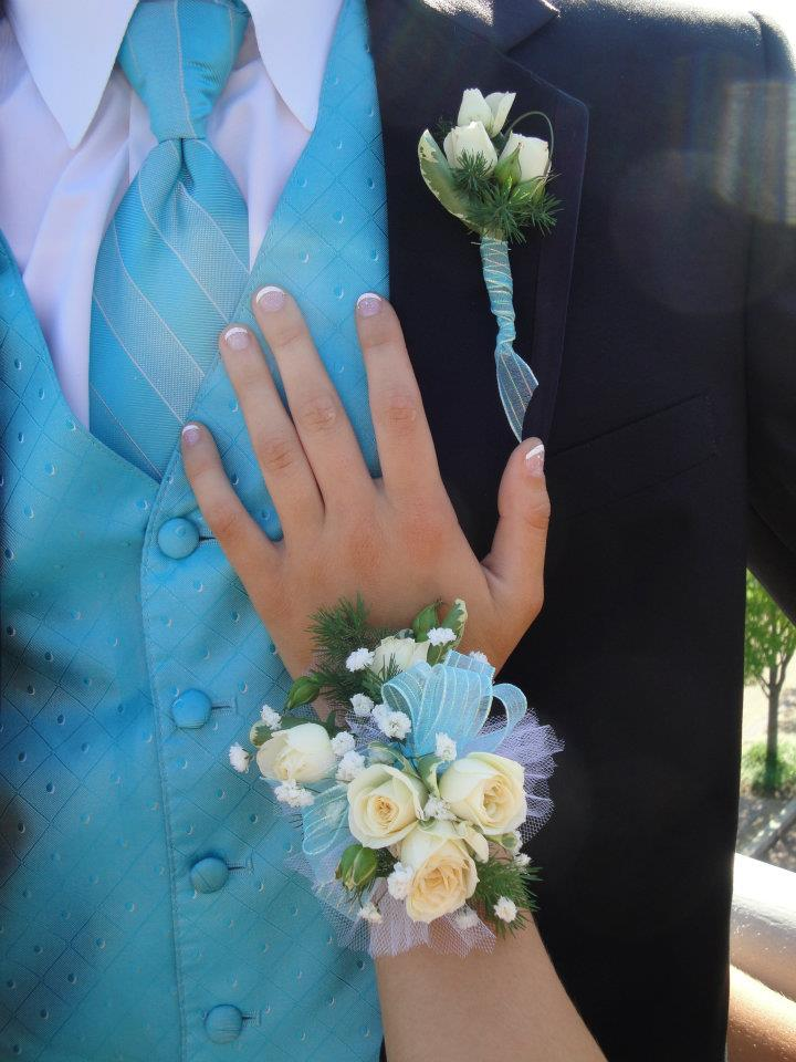 Prom corsage and boutonieere