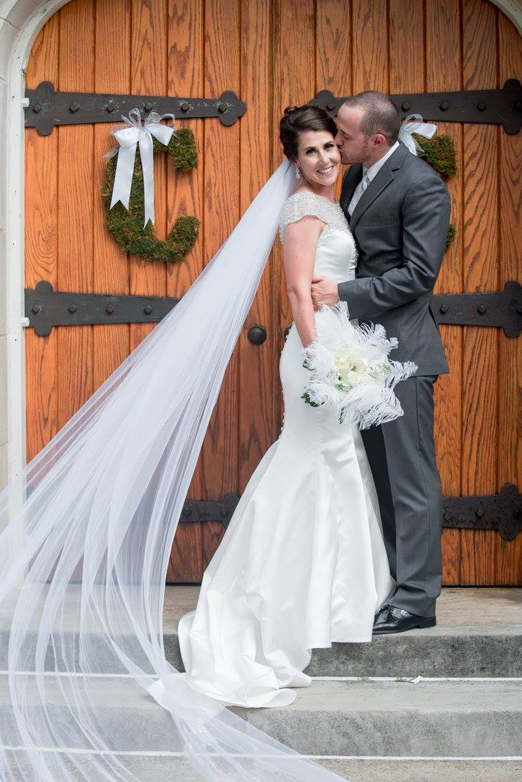 Brime and Groom with flowers Wedding Bouquet by Blue Ivy Flowers, Chattanooga, TN