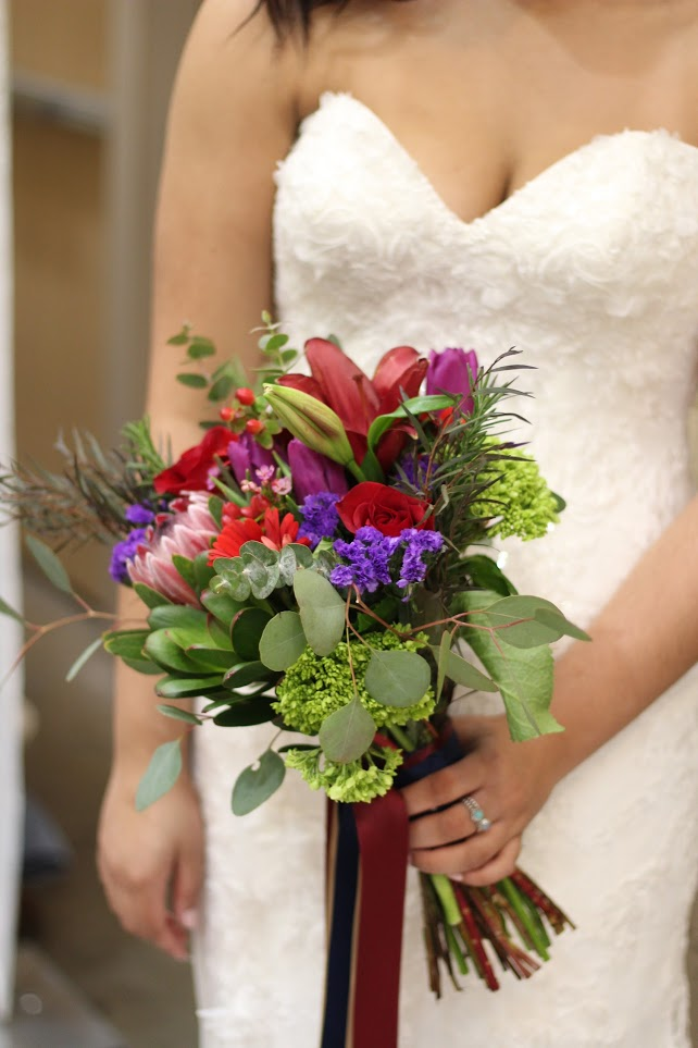 Bridesmaid flowers Wedding Bouquet by Blue Ivy Flowers, Chattanooga, TN