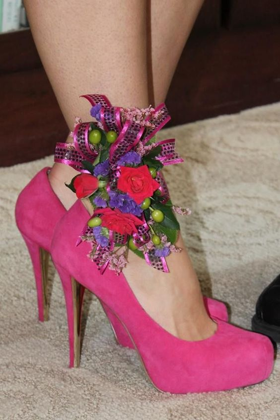 Ankle prom flowers