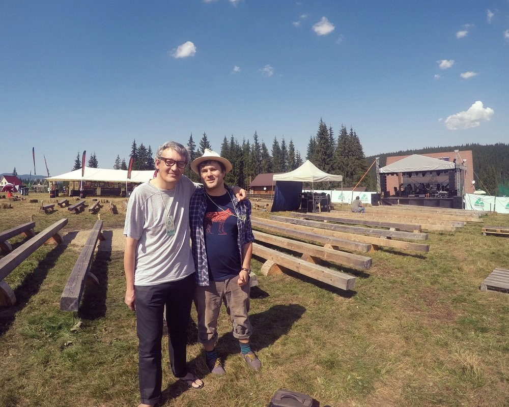 Selfie cu Mihai Iordache (Iordache, Fiver Hourse Records) și Ciprian Ocean (fondator Inertia Movement)