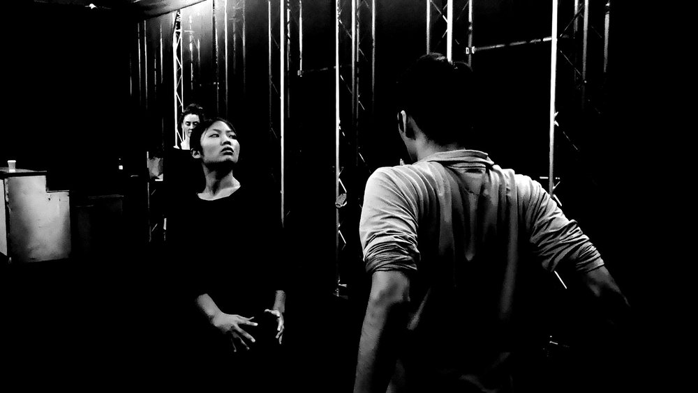 """Human Presence - DVKA: """"The dancers are there expressing themselves and moving in relation to the concept that influences Elissavet, who takes that interpreted the way that she wants it related to the concept which then gives us content as sound designers, which we ourselves interpret and relate it to the concept so that every element is at the service of the concept but they are independent in their own expression at the same time."""""""