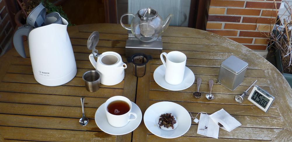 Utensilios básicos para preparar el té