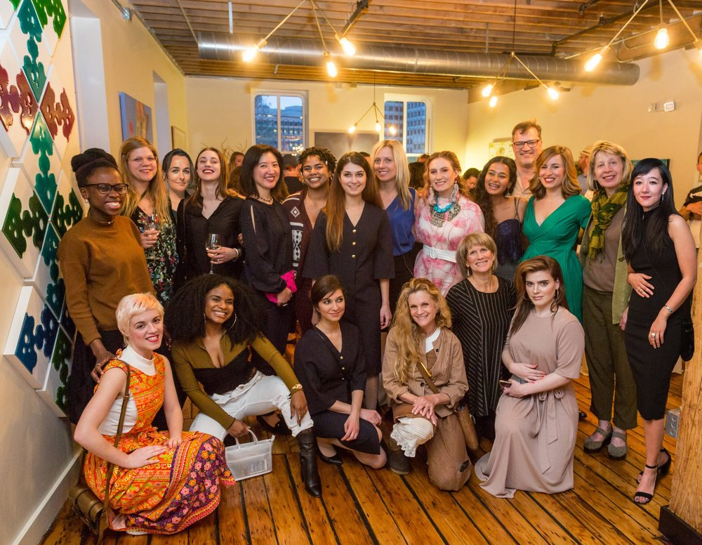 THE SALON SHOW - CHECK OUT THESE ARTISTS BEFORE THEY'RE GONE.An exhibit of 24 female artists, hangs on the walls of the all-female run production company Sweet Rickey, in an endeavor to raise money for the Malala Fund.