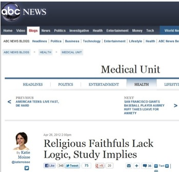 Thanks, ABC News! Yes, I do love being misrepresented, and the resulting hate e-mail is a real treat!