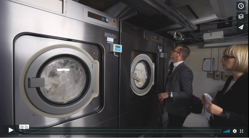SLS product installation film, plus social media trailers to showcase the prestigious installation of a new laundry service at the Savoy Hotel, London