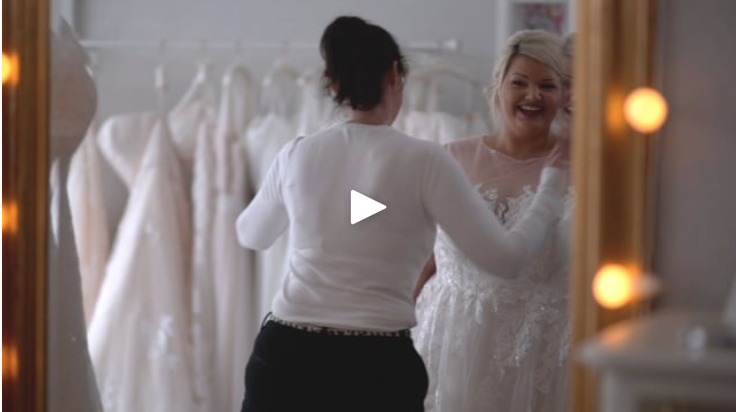The Bridal Suite , Fareham asked Bullet to help create video content for a full marketing campaign to showcase the service provided to plus-sized brides at their specialist store.