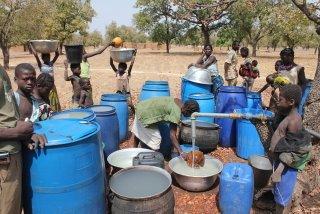Barrels of water