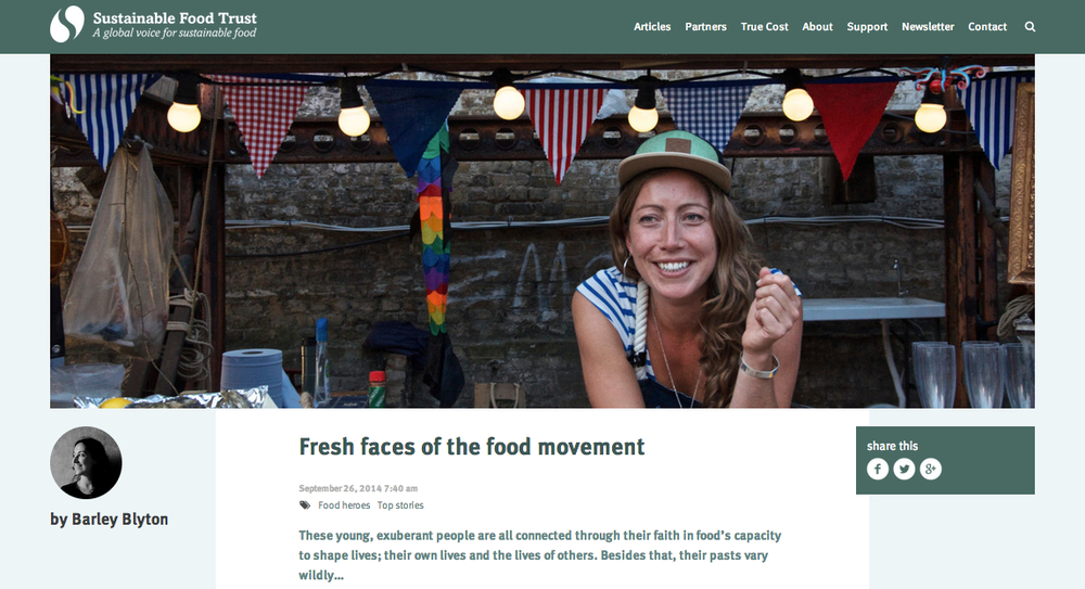 Sustainable Food Trust.   Sept 2014.  The New Faces of London Food.