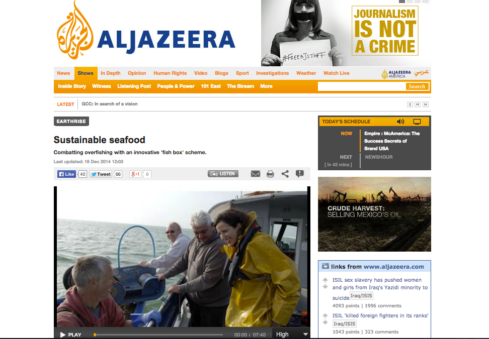 Al Jazeera. Dec 2014. Sustainable Seafood.