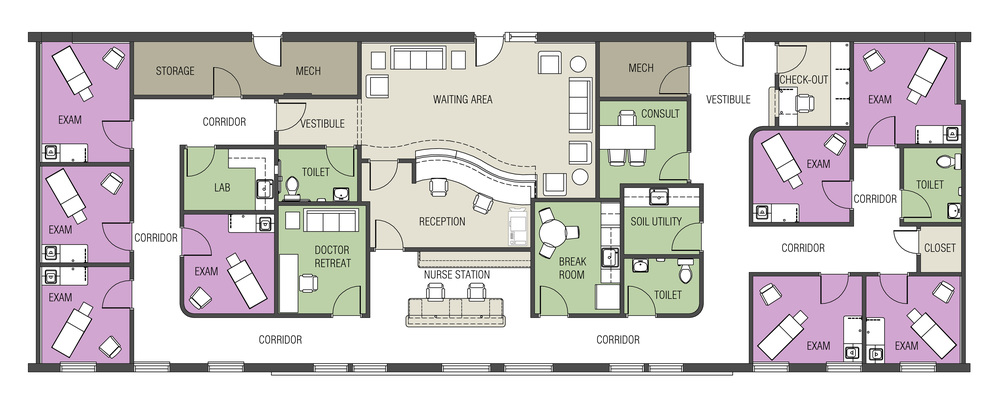 Space planning quist design works for Floor plans health care facilities