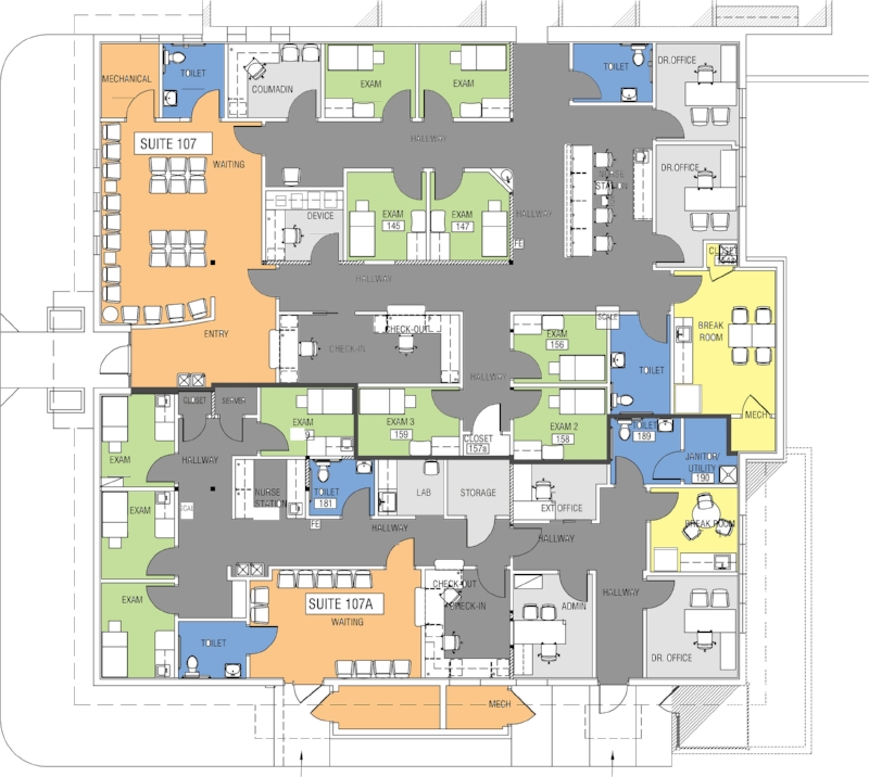 Two Health Care Offices Sharing The Same Floor - 4,200 USF