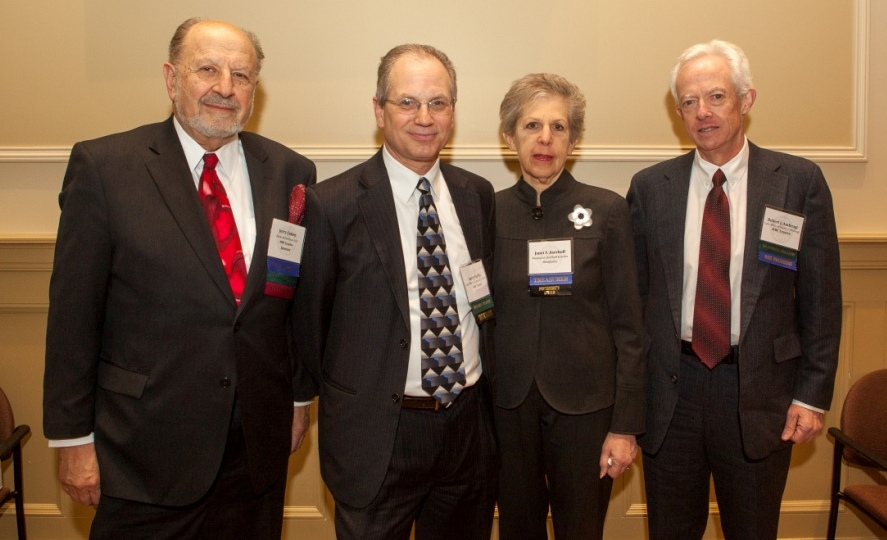 Left to right: Cohen, Farber, Aserkoff, and Ambrogi.