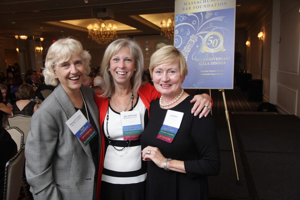 MBF Past Presidents (from left) Margaret Xifaras, Alice E. Richmond and Carol Witt.