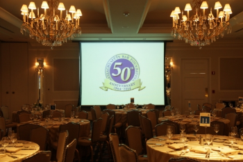 The MBF celebrated 50 years of service with more than 300 judges and attorneys at a Gala Dinner on Oct. 23.