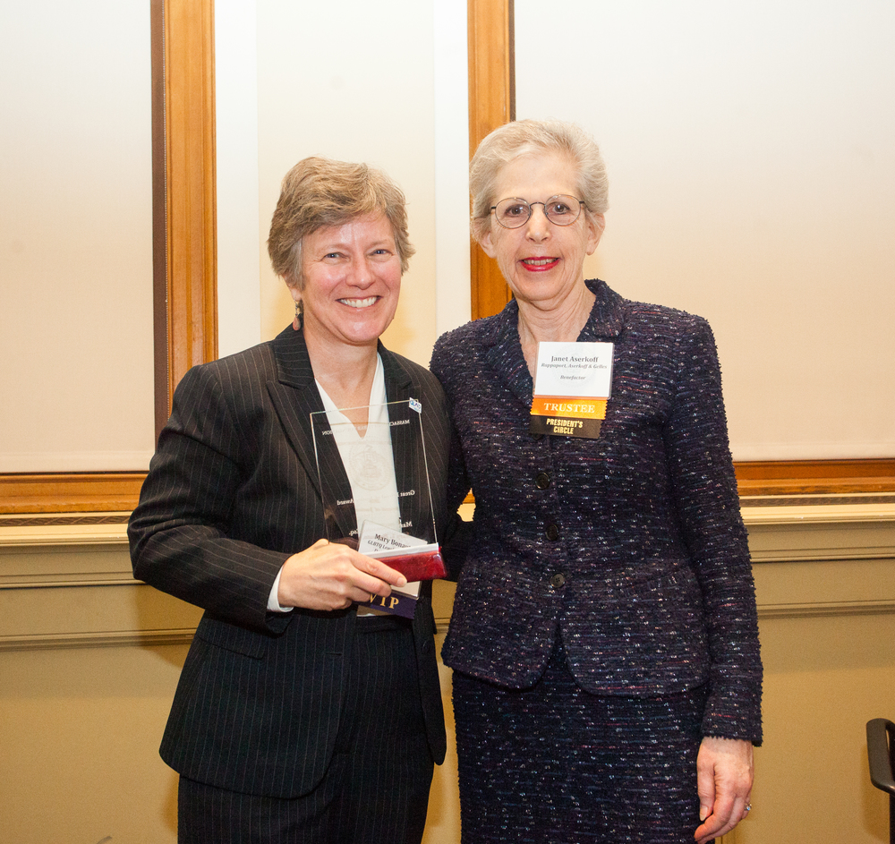 Great Friend of Justice Mary L. Bonauto with MBF President Janet F. Aserkoff.