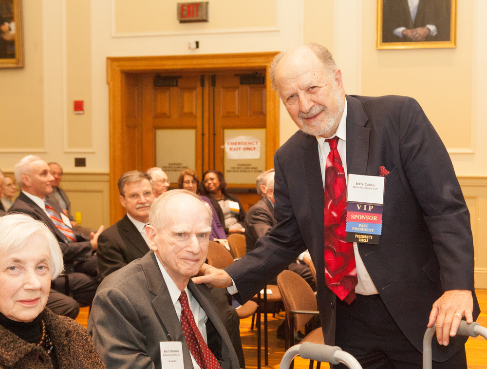 Roy A. Hammer with Jerry Cohen at the 2015 Annual Meeting