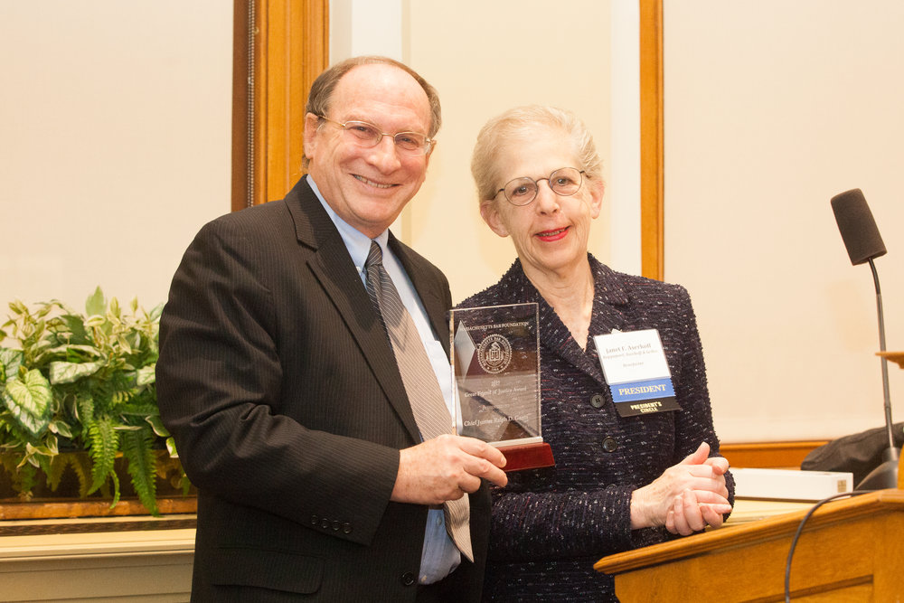 Mbf Honors Chief Justice Ralph D Gants With Great Friend Of Justice