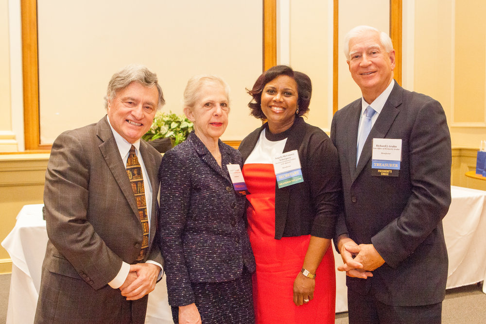 From left to right: Vice President Harvey Weiner, President Janet F. Aserkoff, Secretary Angela McConney Scheepers, Treasurer Richard J. Grahn