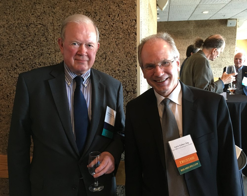 Larry Farber (right),with the 2017 President's Award recipient, Robert C. Ware, at last year's Grantee Reception.