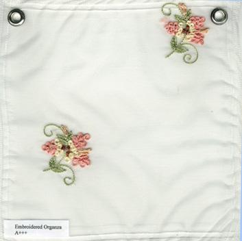 Embroidered Silk Organza