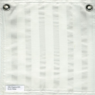 Striped Silk Organza