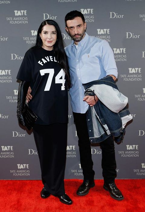 Marina Abramovic and Riccardo Tisci at Tate Museum Artists Dinner (2013)