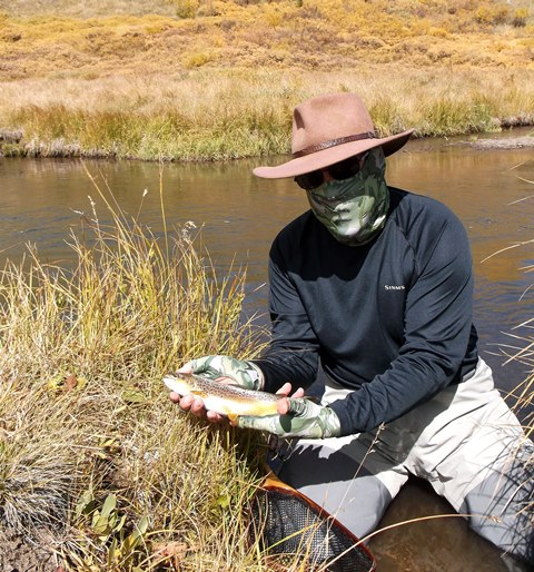 A FULLY OUTFITTED ENGINEER  ON THE RIVER.