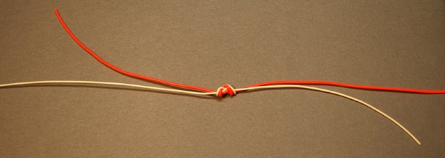The tightened double surgeon's knot.