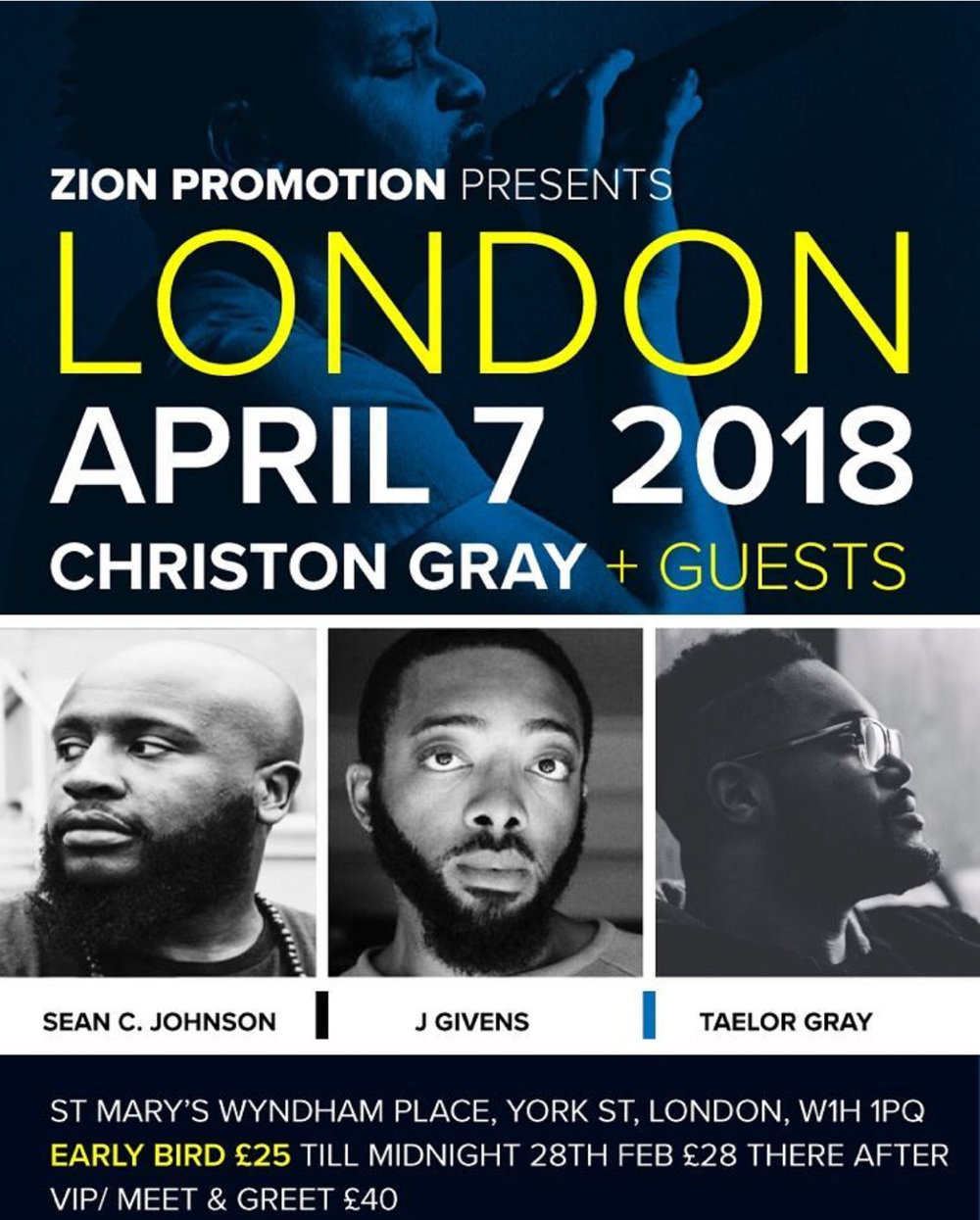 Courtesy of  Zion Promotions