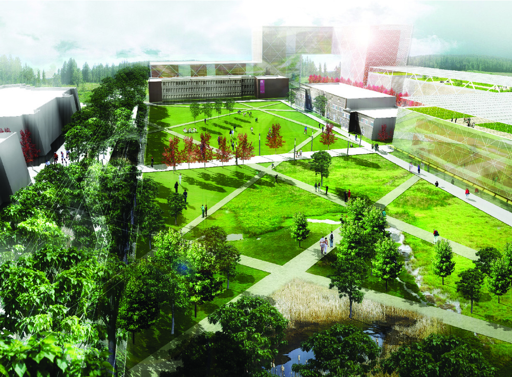Rutgers university livingston campus open space design for Garden design university